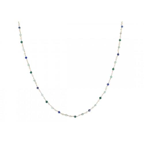 Collier Gabriela - amazonite et lapis lazuli