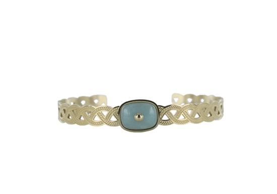 Bracelet manchette Andrea - amazonite