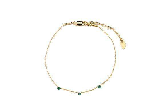 Bracelet stone vert