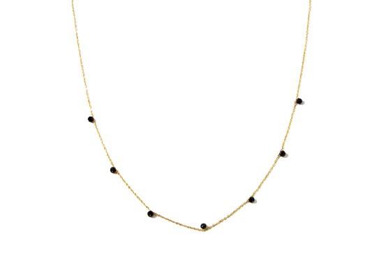 Collier stone noir