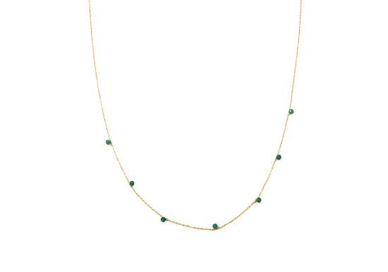 Collier stone vert