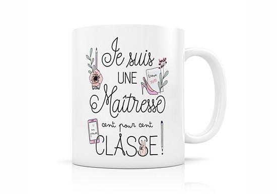 Mug Maîtresse 100% classe