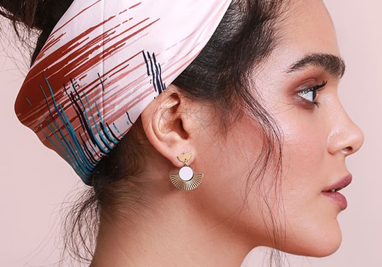 Boucles d'oreilles Addis( coloris au choix)
