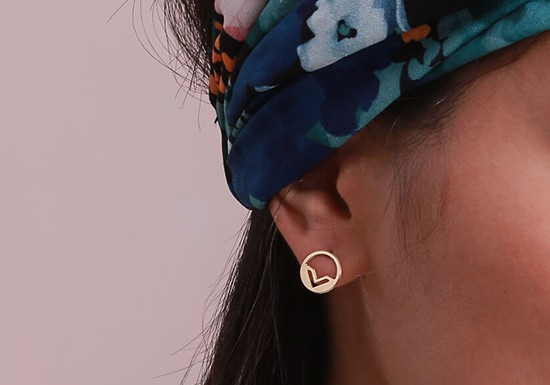 Boucles d'oreilles Gana post