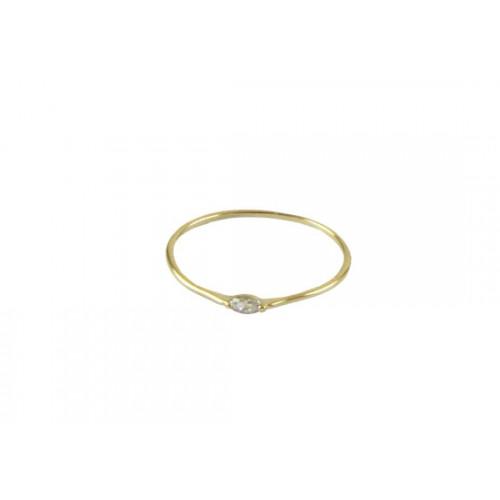 Bague Cleo dorée blanc - Plaqué or