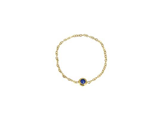 Bague Stone bleu - Plaqué or
