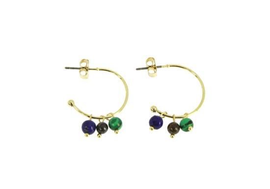 Boucles d'oreilles Camille 3 perles