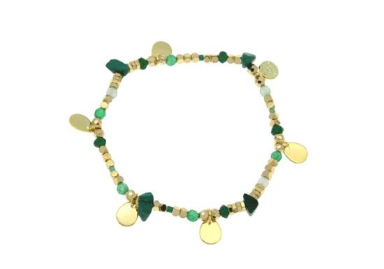 Bracelet Gaia élastique - vert