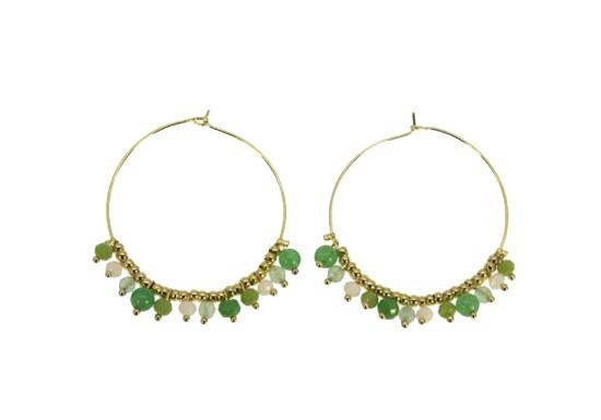 Boucles d'oreilles Camille vert clair