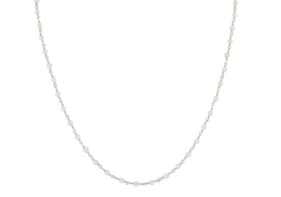 Collier Gabriela - jade blanc