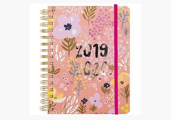 Agenda Grand modèle, 2019-2020 Nature rose
