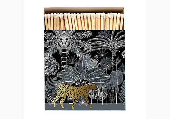 Grande boite d'allumettes - Cheetah Black