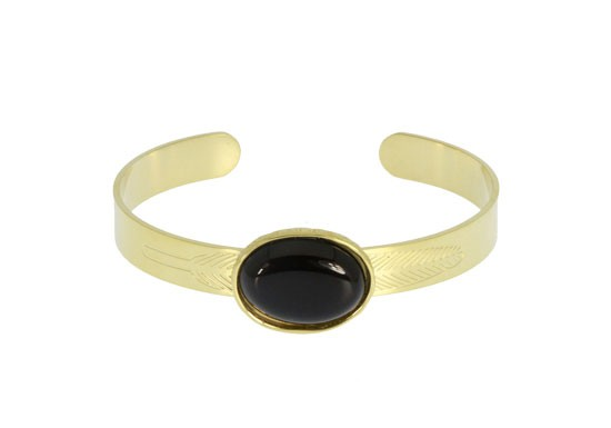 Bracelet manchette Colette - noir