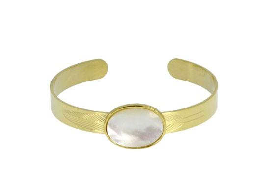 Bracelet manchette Colette - blanc