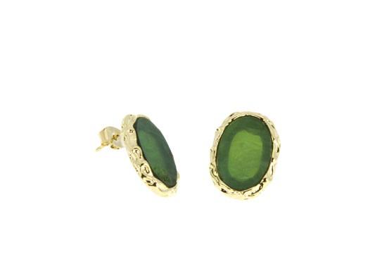 Boucles d'oreilles Colette - vert