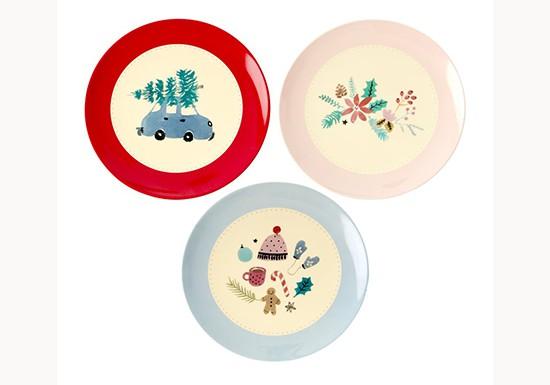 Petites assiettes de Noël