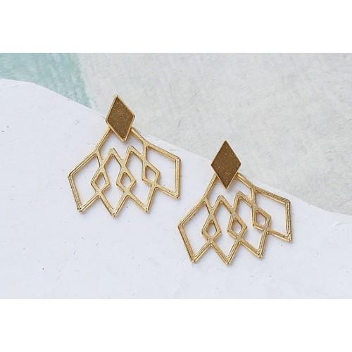 Boucles d'oreilles Pompidou jacket (or ou argent)