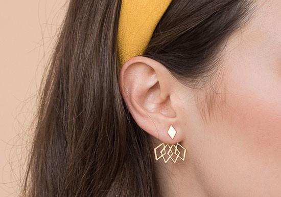 Boucles d'oreilles Pompidou jacket