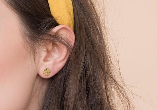 Boucles d'oreilles Miro post