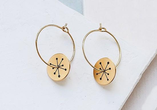 Boucles d'oreilles Miro hoop