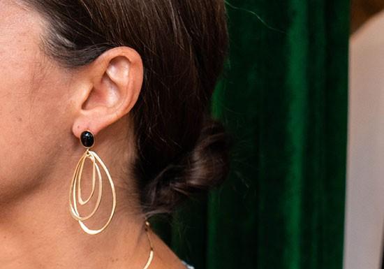 Boucles d'oreilles Eugénie - onyx