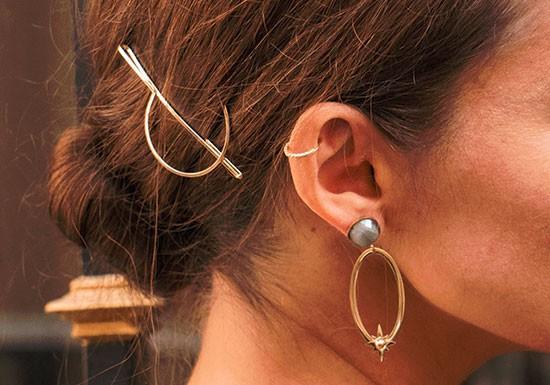 Boucles d'oreilles Angèle - Labradorite