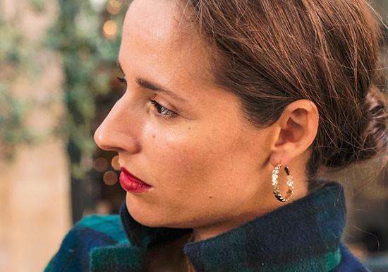 Boucles d'oreilles créole Léonie