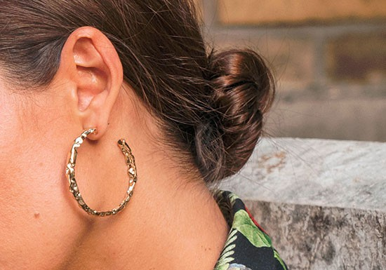 Boucles d'oreilles maxi créole Pauline