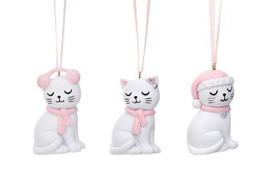 Suspension chat de noël (modèles au choix)