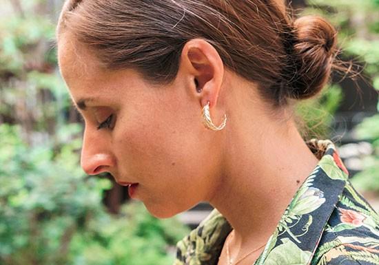 Boucles d'oreilles Elisabeth feuille