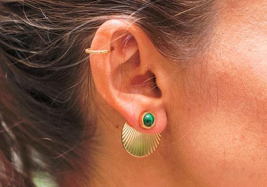 Boucles d'oreilles Madeleine - vert