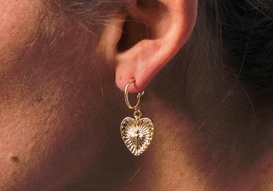 Mini créoles cœur