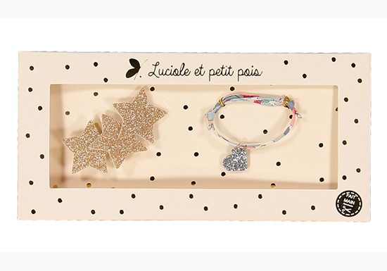 Coffret Bracelet et Barrette étoiles