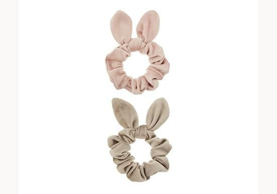 Chouchous bunny velours (lot de 2)