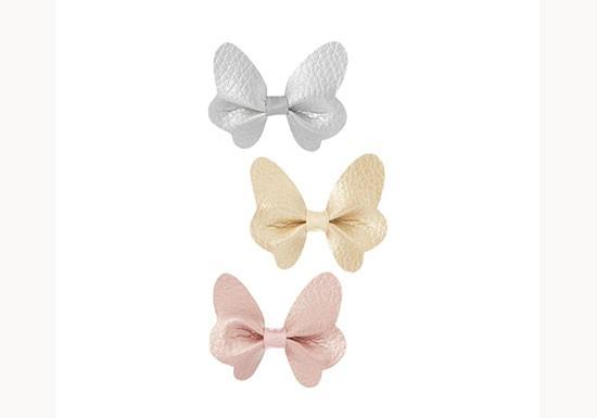 Barrettes 3 papillons