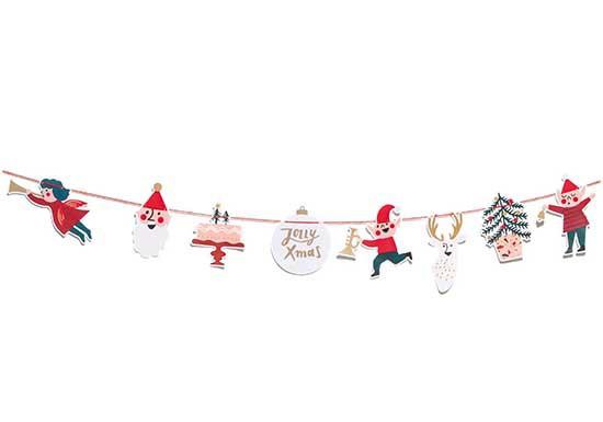 Guirlande de Noël en papier