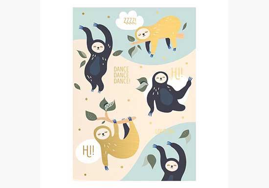 Carte Danse des paresseux