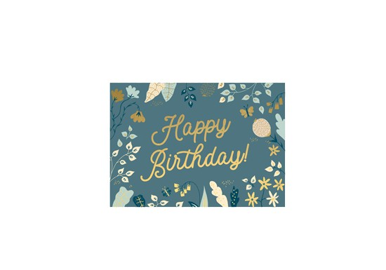 Mini carte - Happy Birthday fleurs