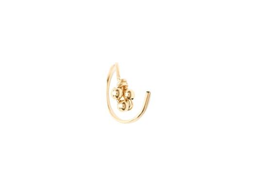 Boucle d'oreille double Cosmic or - Puce et anneau
