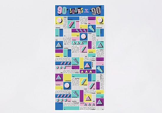 Poster 90 jours dans les années 90