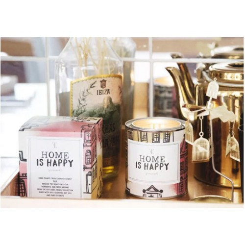 Grande bougie parfum jasmin vanille - Home is happy