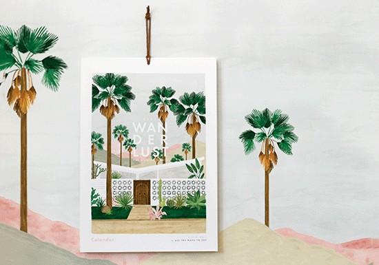 Calendrier Grand modèle - Wanderlust 2020