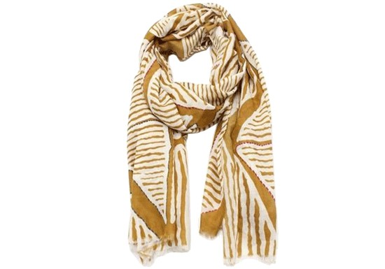 Foulard Wax moutarde