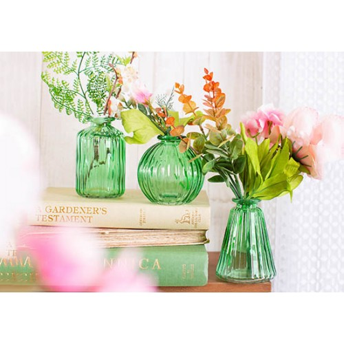 3 Mini vases en verre