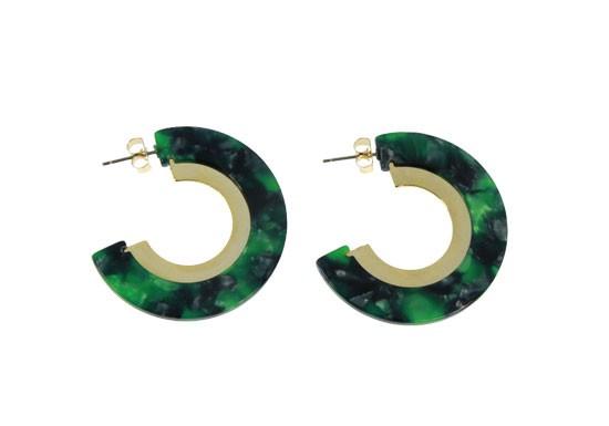 Boucles d'oreilles Thilia vert