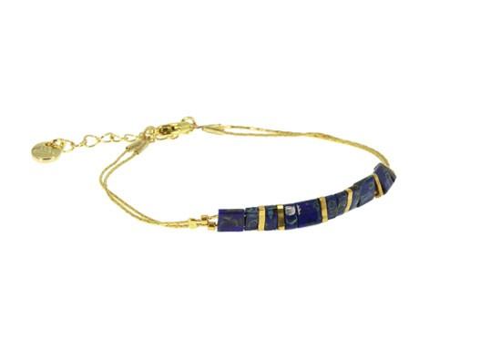 Bracelet Miyuki chaîne - bleu marine