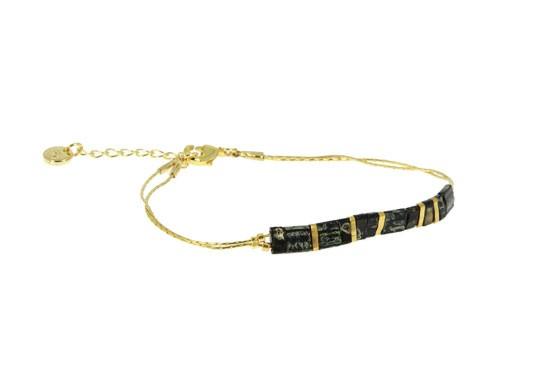Bracelet Miyuki chaîne - noir