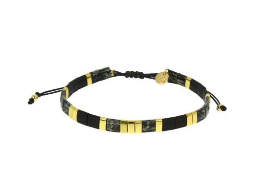 Bracelet Miyuki cordon - noir
