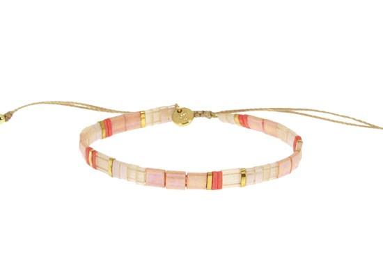 Bracelet Miyuki cordon - rose