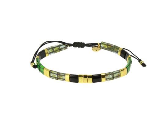 Bracelet Miyuki cordon - vert